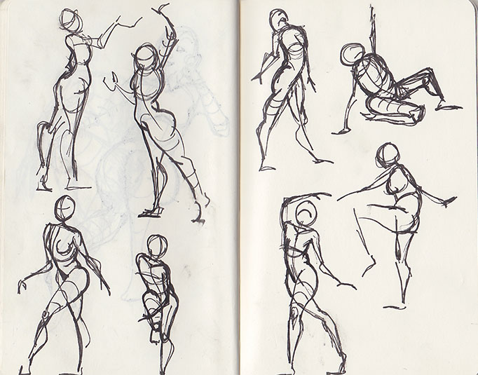 Moleskin - gesture drawing 1