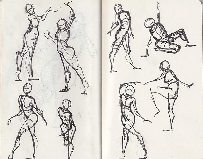 Moleskin - gesture drawing 1