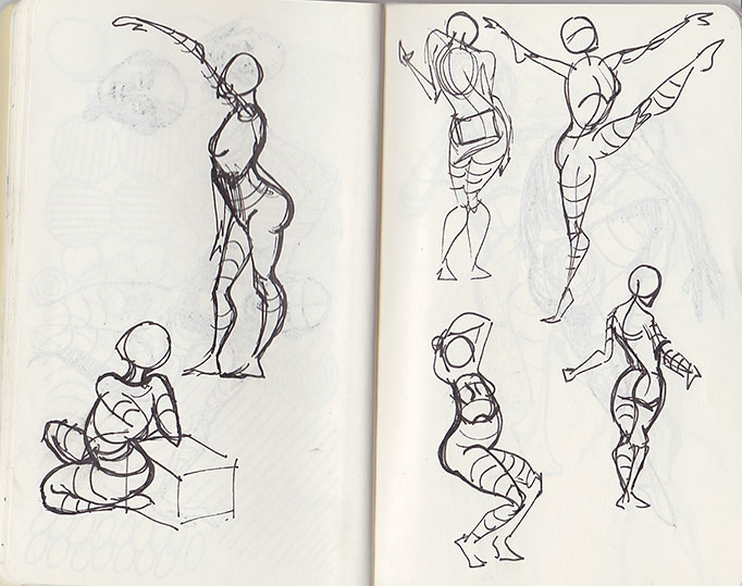 Moleskin - gesture drawing 2