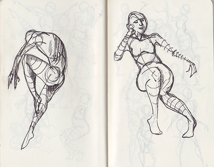 Moleskin - gesture drawing 3