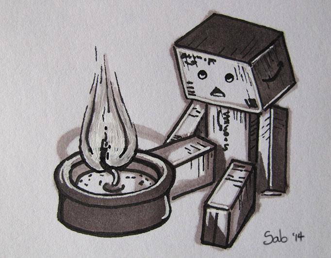 Doodle-Danbo-Candle