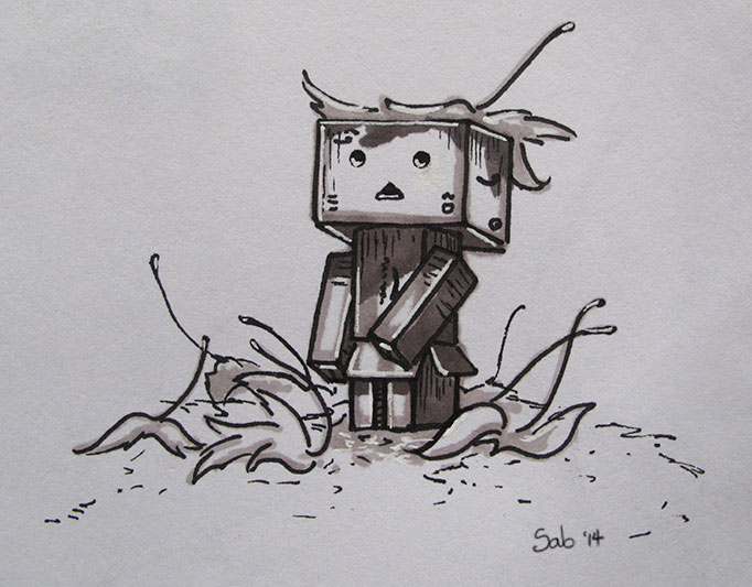 Doodle-Danbo-Leaves