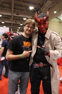 Fan Expo: My boyfriend met his hero :)