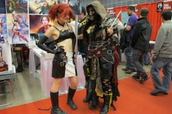 Comic Con: Posing with Romantically Apocalyptic inspired cosplayer
