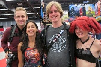 Comic Con: Taking a small break with friends!