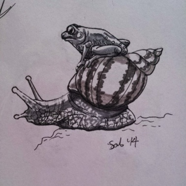 Inktober #1 : Hitching a Ride