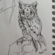 Inktober #4 : Just an Owl...