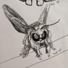 Inktober #3 : Poodle Moth