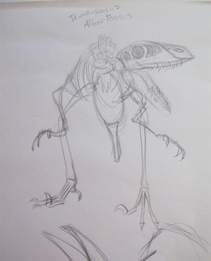 NatureSketching-Dinosaur-MuseumSketch