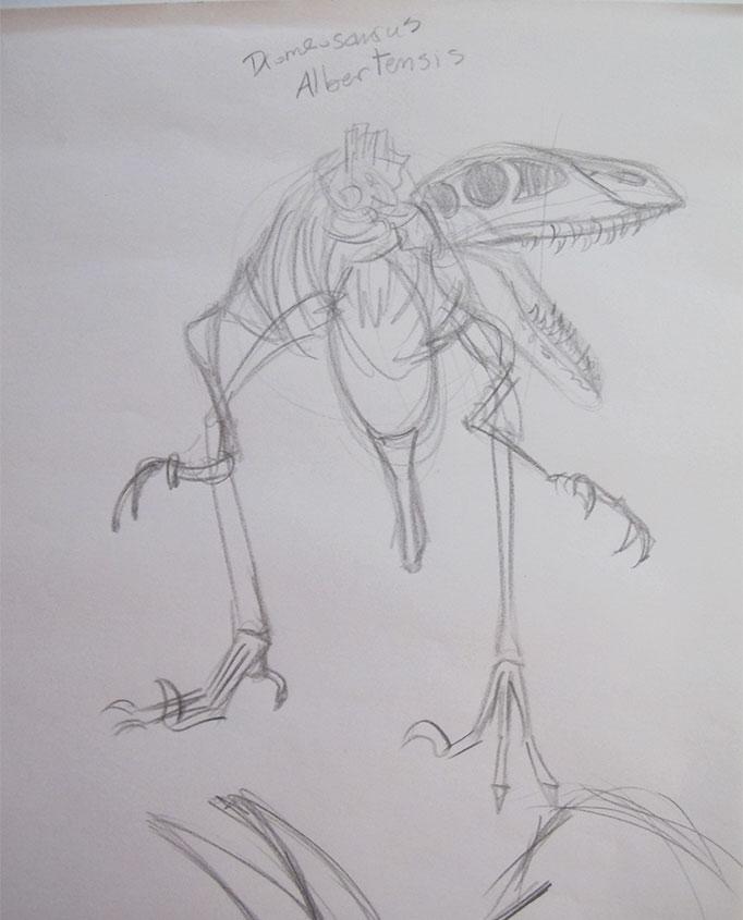 NatureSketching-Dinosaur-MuseumSketch